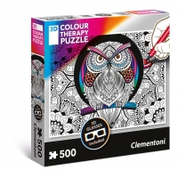Puzzle 500 el. Sowa - 3D Color Teraphy 3D Colour Therapy Puzzle Clementoni