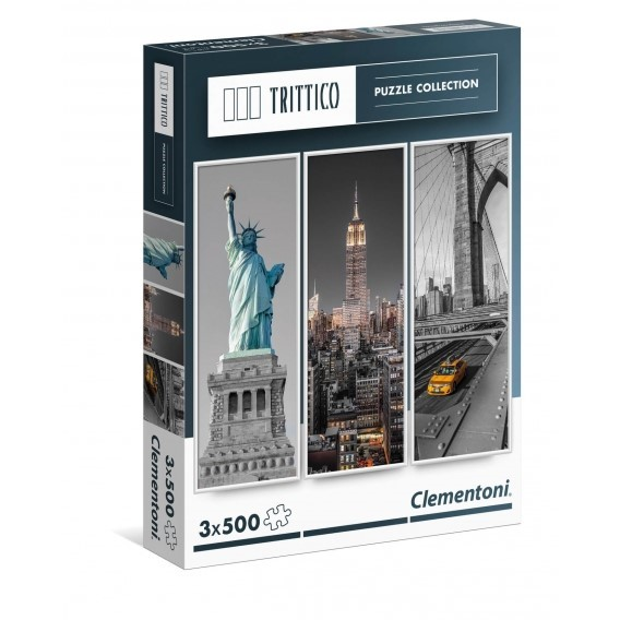 Puzzle 3x500 el. New York - Multipuzzle