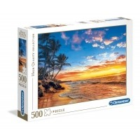 Puzzle 500 el. Paradise Beach - High Quality Collection High Quality Collection Clementoni