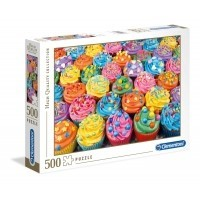 Puzzle 500 el. Colorful cupcakes - High Quality Collection High Quality Collection Clementoni