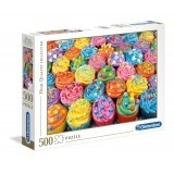 Puzzle 500 el. Colorful cupcakes - High Quality Collection