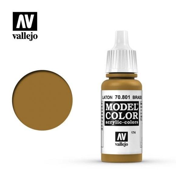 Farba Vallejo Model Color 174 - 801-17 ml. Brass