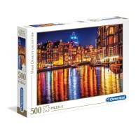 Puzzle 500 el. Amsterdam nocą - High Quality Collection High Quality Collection Clementoni