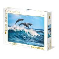 Puzzle 500 el. Delfiny - High Quality Collection High Quality Collection Clementoni