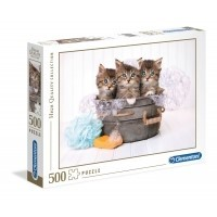 Puzzle 500 el. Kittens and soap - High Quality Collection High Quality Collection Clementoni