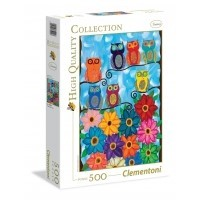 Puzzle 500 el. Cute little owls - High Quality Collection
