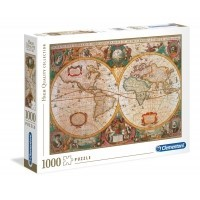 Puzzle 1000 el. Old Map - High Quality Collection High Quality Collection Clementoni