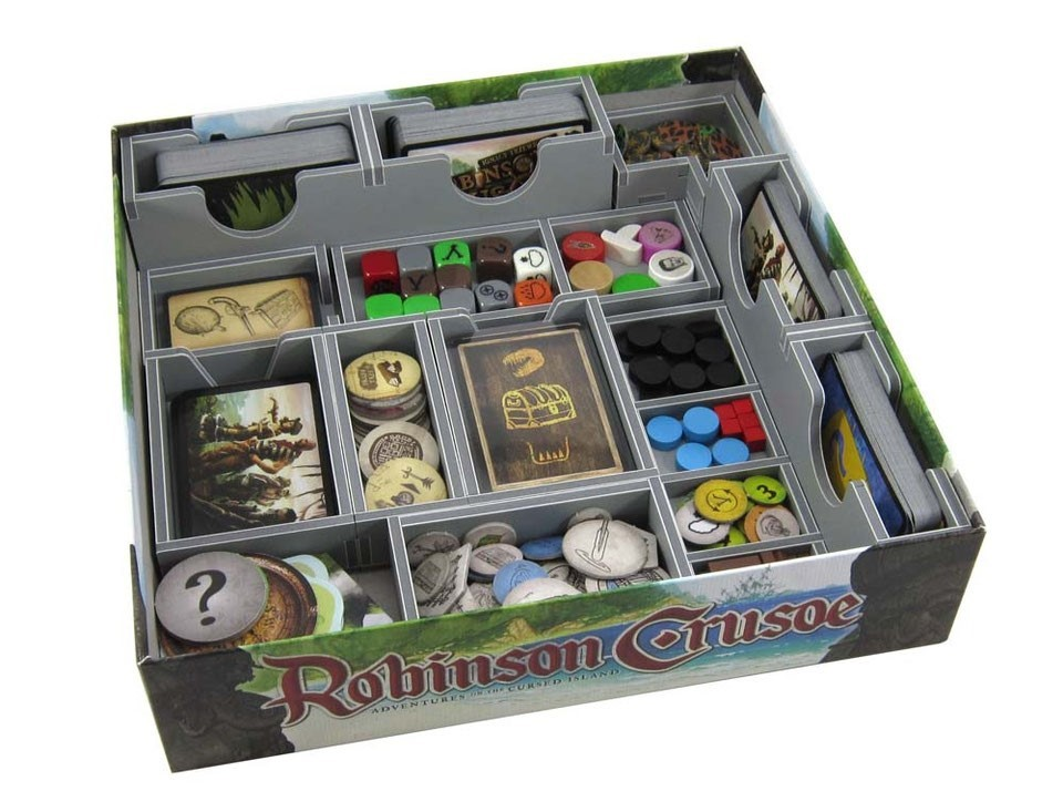 Folded Space: organizer do gry Robinson Crusoe: Przygoda na przeklętej wyspie