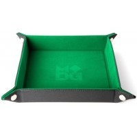 Składana tacka na kości ze skórzanym tyłem (zielona) Pozostałe Metallic Dice Games