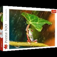 Puzzle 500 el. Zielony parasol Zwierzęta Trefl