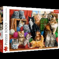 Puzzle 1000 el. Kocie spotkanie Zwierzęta Trefl