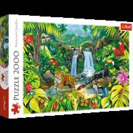 Puzzle 2000 el. Las tropikalny Zwierzęta Trefl