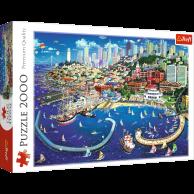 Puzzle 2000 el. Zatoka San Francisco Pejzaże Trefl