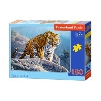 Puzzle 180 el. Tiger on the rock