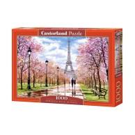 Puzzle 1000 el. Romantyczny spacer w Paryżu Pejzaże Castorland