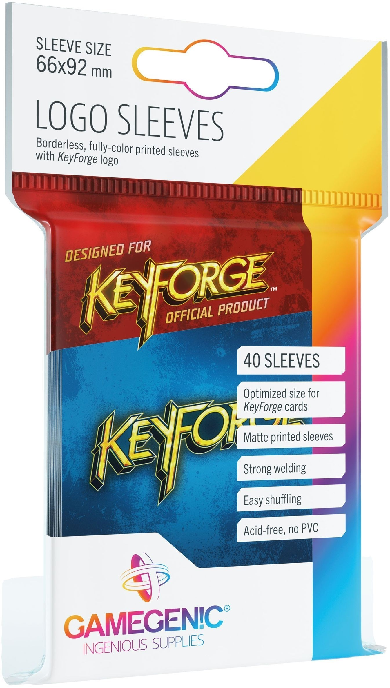 Gamegenic: KeyForge - Logo Sleeves Blue