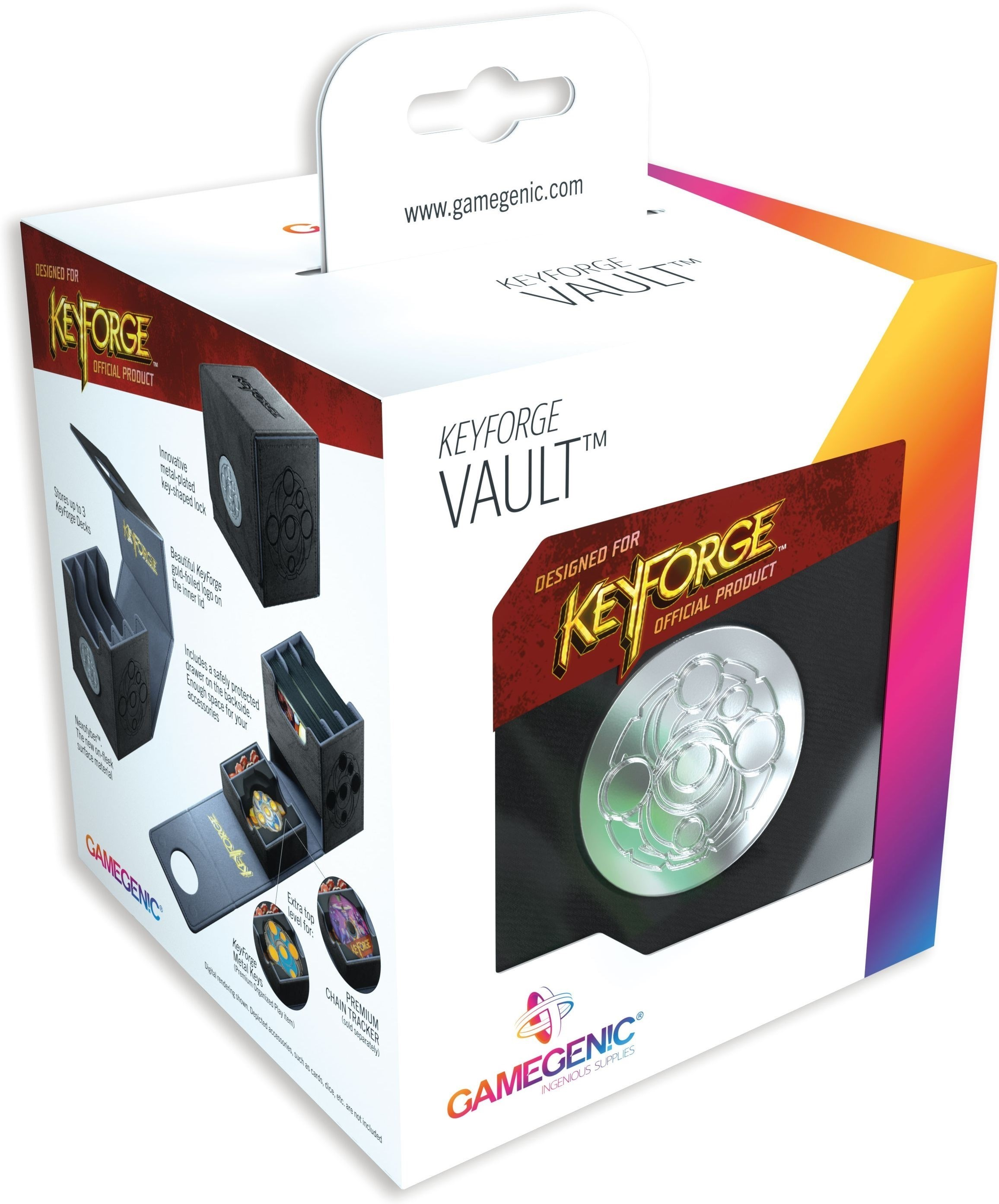 Gamegenic: KeyForge - Vault Black Premium Deck Box
