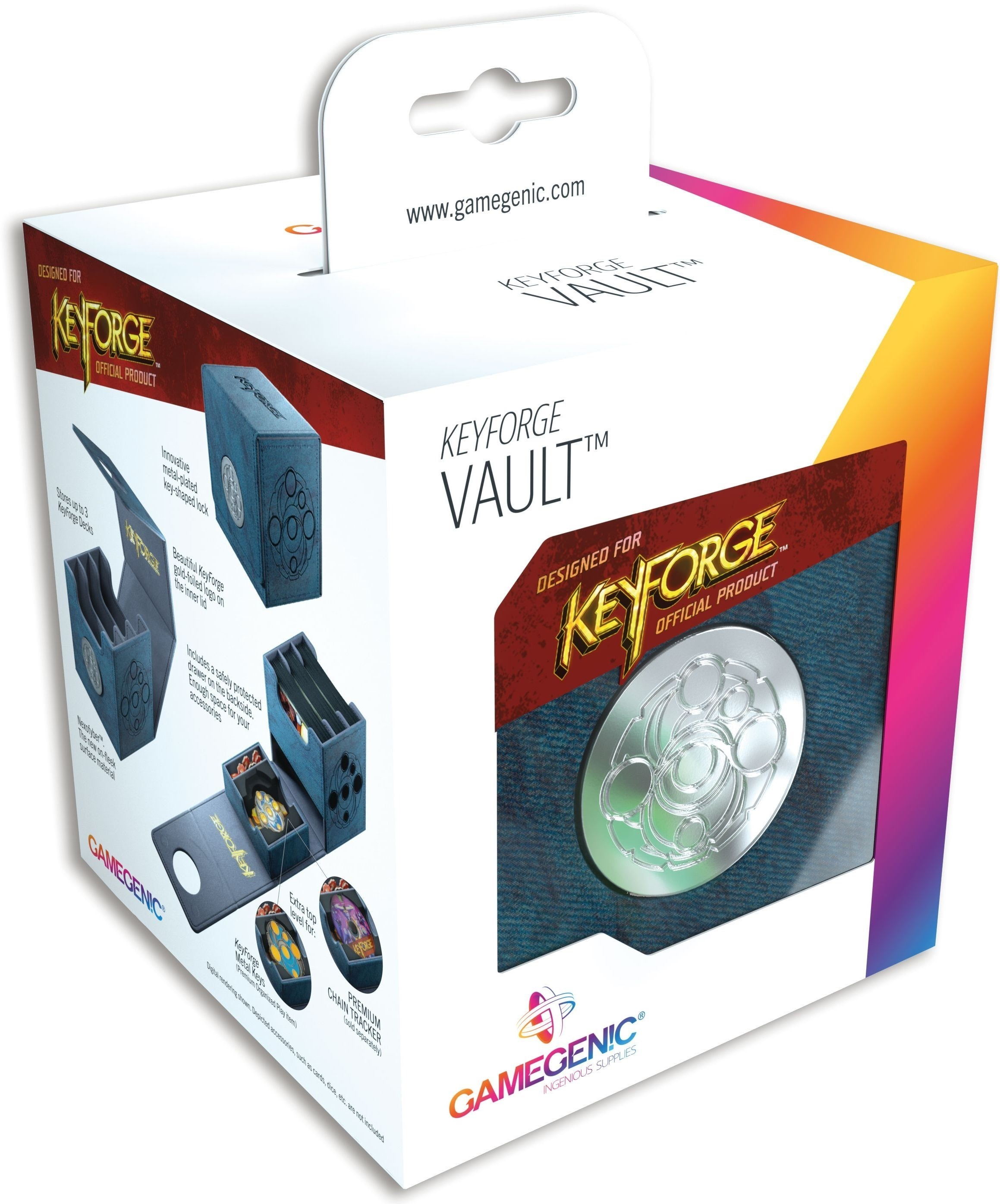 Gamegenic: KeyForge - Vault Blue Premium Deck Box