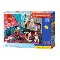 Puzzle 300 el. Puppies in the Bedroom