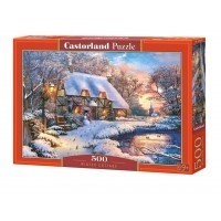 Puzzle 500 el. Winter Cottage