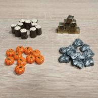 Dice Settlers: ulepszone surowce Dodatki Promocyjne Lucrum Games