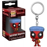 Funko POP Keychains: Deadpool Playtime - Deadpool Bathtime Funko - Marvel Funko - POP!