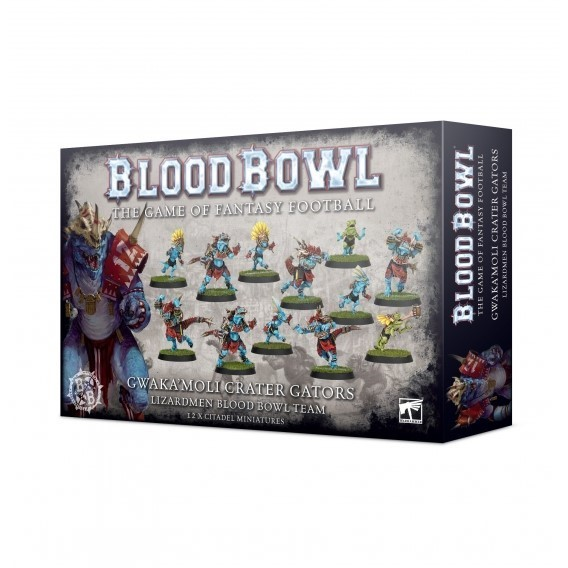 Blood Bowl: Team Gwaka'moli Crater Gators - Lizardmen