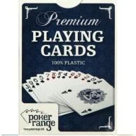 Karty pokerowe Premium niebieskie 100% plastik
