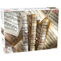 Puzzle 1000 el. Scrolls of sheet music