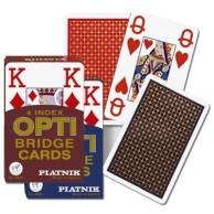 Karty brydżowe 1402 Opti - Bridge 4 Index red