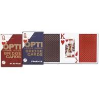 Karty brydżowe 1400 Opti - Bridge red