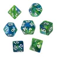 Komplet kości REBEL RPG - Dwukolorowe - Niebiesko-zielone Dwukolorowe Rebel