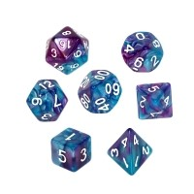 Komplet kości REBEL RPG - Dwukolorowe - Niebiesko-fioletowe Dwukolorowe Rebel