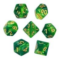 Komplet kości REBEL RPG - Dwukolorowe - Miętowo-zielone Dwukolorowe Rebel