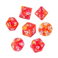 Komplet kości REBEL RPG - Dwukolorowe - Czerwono-żółte Dwukolorowe Rebel