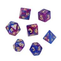 Komplet kości REBEL RPG - Dwukolorowe - Ciemnoniebiesko-purpurowe Dwukolorowe Rebel