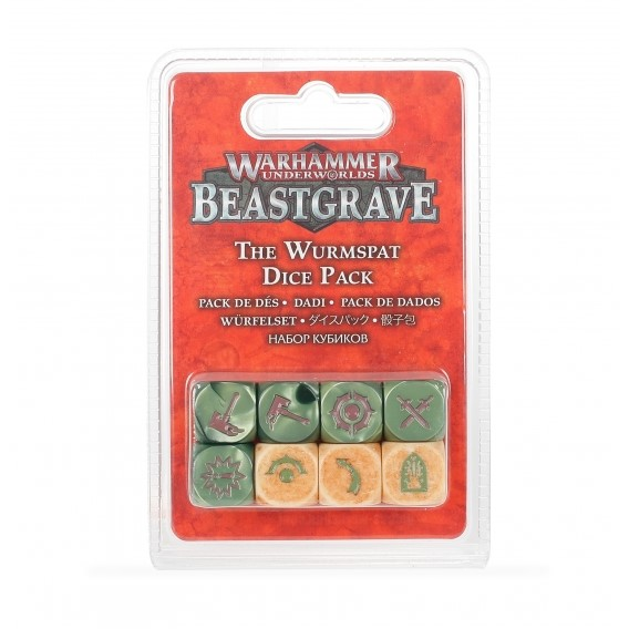 The Wurmspat Dice Set Warhammer Underworlds Games Workshop