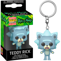 Funko POP Keychain: Rick & Morty - Teddy Rick Funko - Keychain Funko - POP!