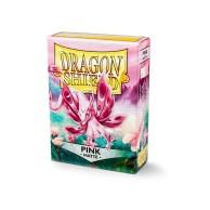 Koszulki na karty Dragon Matte - różowe - 60 szt.