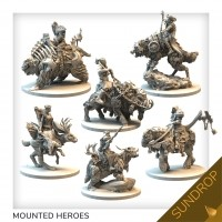 Tainted Grail: The Fall of Avalon Mounted Characters Set Sundrop Przedsprzedaż Awaken Realms