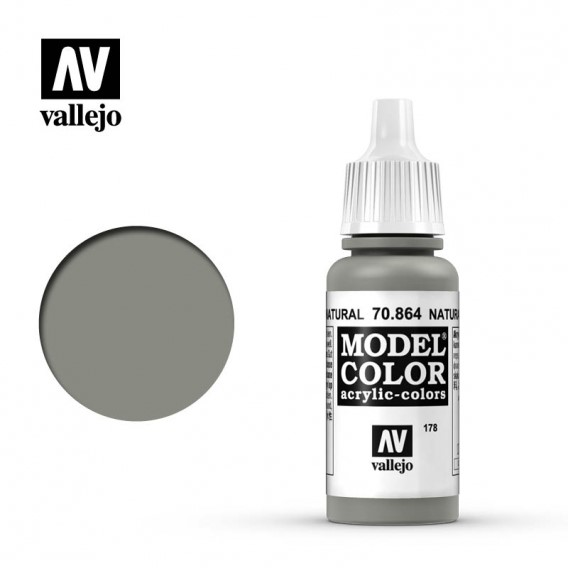 Farba Vallejo Model Color 178 - 864 -17 ml. Natural Steel Seria Model Color Vallejo