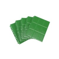 Gamegenic 18-Pocket Pages Sideloading - Green (50 szt) Gamegenic Gamegenic