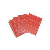 Gamegenic 18-Pocket Pages Sideloading - Red (50 szt) Gamegenic Gamegenic