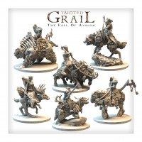 Tainted Grail: The Fall of Avalon Mounted Characters Set Przedsprzedaż Awaken Realms