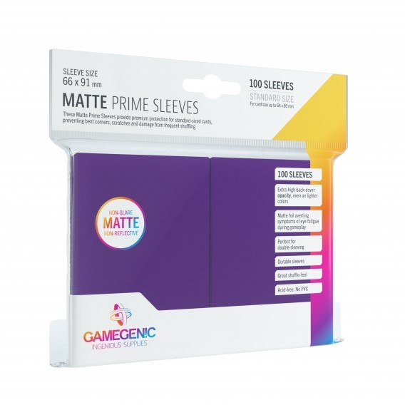 Koszulki na karty Gamegenic: Matte Prime CCG (64x89 mm) - Purple, 100 sztuk Gamegenic Gamegenic
