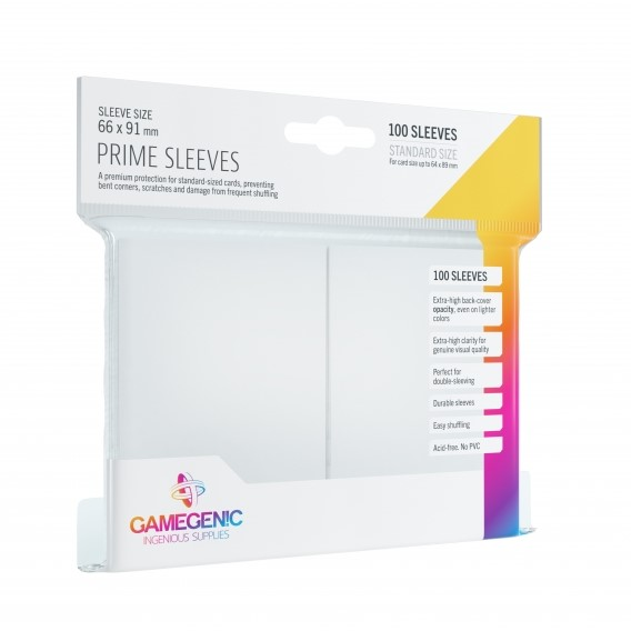 Koszulki na karty Gamegenic: Prime CCG (64x89 mm) - White, 100 sztuk Gamegenic Gamegenic