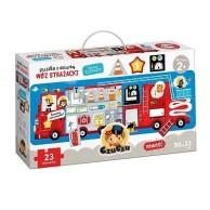 Puzzle z Dziurką Wóz strażacki Gry dla Dzieci Bright Junior Media
