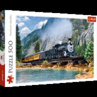 Puzzle 500 el. Górski pociąg Pejzaże Trefl
