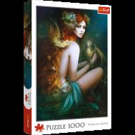 Puzzle 1000 el. Przyjaciółka smoków Fantasy Trefl