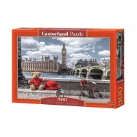 Puzzle 500 el. Mała wycieczka do Londynu Pejzaże Castorland